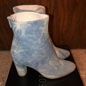 Denim fashion shoes